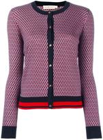 Tory Burch patterned round neck cardigan