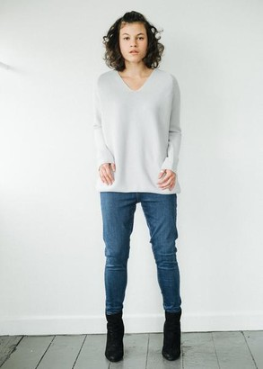Armedangels Organic Cotton Knitted Jumper in Grey - 16
