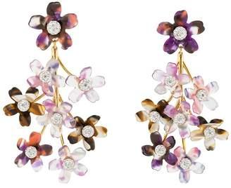 Lele Sadoughi flower embellished earrings