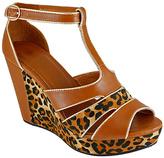 Tan Leopard Nova Wedge Sandal