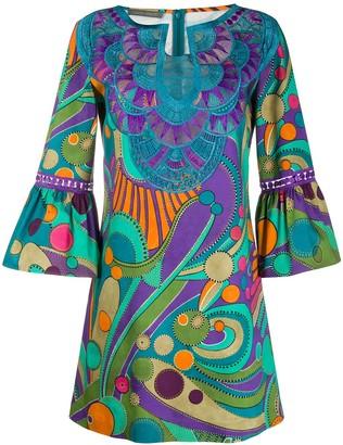 Alberta Ferretti Embroidered-Details Mini Dress