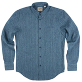 Naked & Famous Denim Hank-Dyed Speckle Basketweave Regular Sportshirt