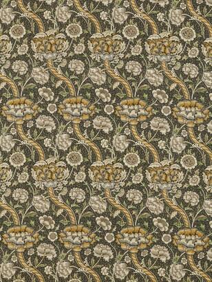 Morris & Co. Wandle Furnishing Fabric, Charcoal/Mustard