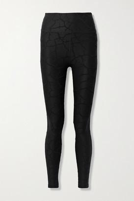 Twenty Montreal 3d Cracked Earth Textured Stretch-nylon Leggings