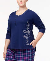 Tommy Hilfiger Plus Size Sleepy in Seattle Embroidered Pajama Top