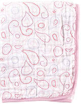 Hudson Baby Pink Paisley Two-Layer Stroller Blanket