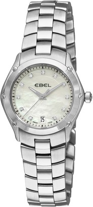 Ebel Women's 9953Q21/99450 Classic Sport Mother-of-Pearl Diamond Dial Watch