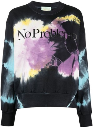 Aries Tie Dye-Print Cotton Sweatshirt