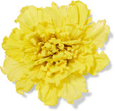 Gucci Oversized Floral Silk Brooch - Yellow