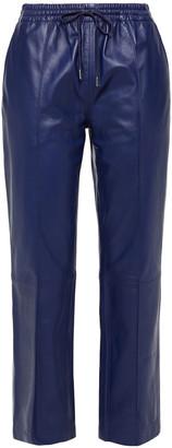Joseph Dino Gathered Leather Straight-leg Pants