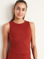 Old Navy Fitted Rib-Knit Cropped Performance Tank for Women