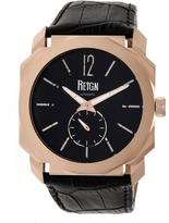 Reign Maximus REIRN4105 Men's Rose Gold and Black Leather Automatic Watch