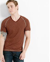 Express speckled v-neck tee