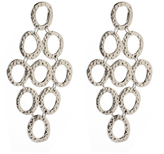 Amrita Singh Silvertone Casablanca Drop Earrings