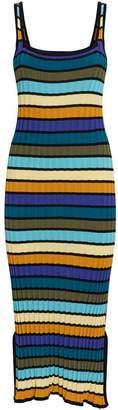 Solid & Striped Knit Midi Dress