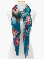 Talbots Flowers & Birds Scarf
