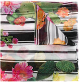 Blugirl floral striped scarf - women - Silk - One Size