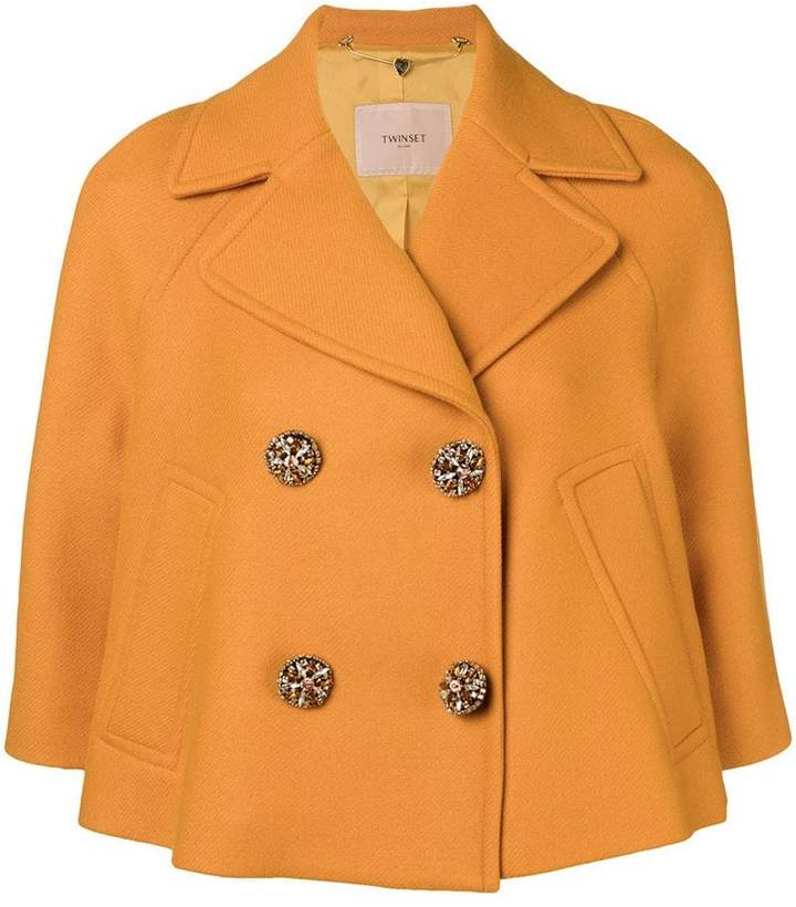 Twin-Set cropped double breasted jacket