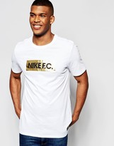 Nike Fc T-shirt In White 810505-101