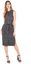 Betsey Johnson Windowpane Sleeveless Shirtdress