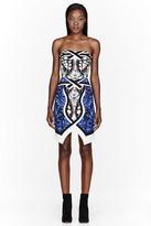 Peter Pilotto Blue patterned Paloma Bustier Dress