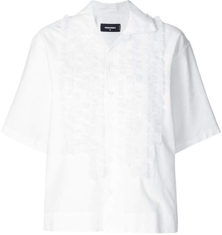 DSQUARED2 ruffle front shirt
