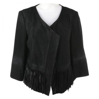 Drykorn Black Leather Jacket for Women