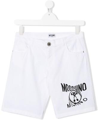 Moschino Kids TEEN logo shorts