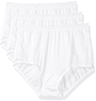 Shadowline Women's Panties-Low Rise Nylon Brief (3 Pack)