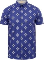 Ted Baker Hardcor Geo Print Cotton Shirt
