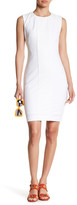 Tahari Sleeveless Lace Inset Sheath Dress
