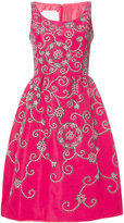 Oscar de la Renta gathered waist swirl dress