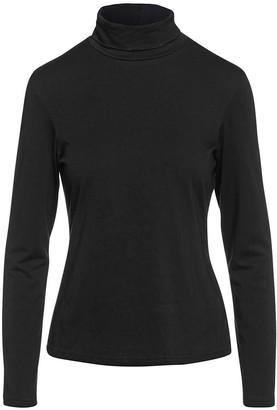 Conquista Long Sleeve Polo Neck Jumper Black