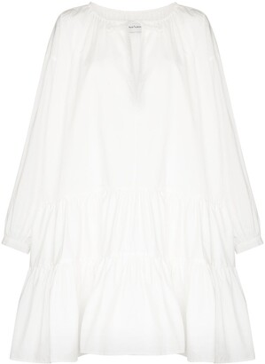 Marques Almeida Gathered Cotton Dress