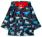 Hatley Navy Dino Print Fleece Lined Raincoat