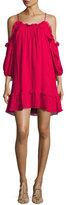Parker Aidrian Cold-Shoulder Shift Dress, Rosy Pink