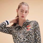 Maje Short leopard-print jacket