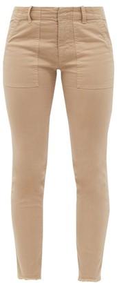 Nili Lotan Jenna Cropped Cotton-blend Slim-leg Trousers - Camel