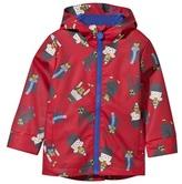 Joules Red Monkey Hooded Waterproof Coat