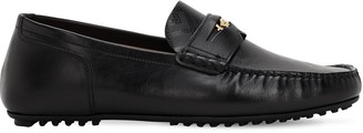 Versace Carshoe Leather Loafers