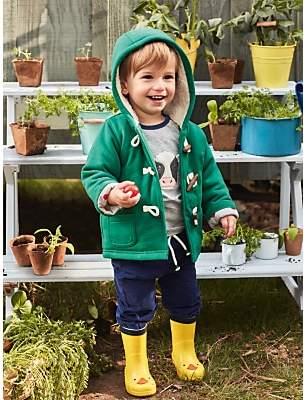 Boden Mini Baby Cosy Duffle Coat, Hike Green