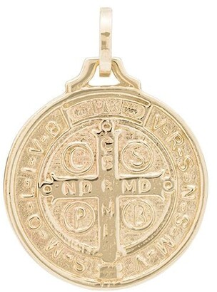 Dru St. Benedict 14kt yellow gold medallion charm