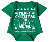Christmas Baby Boys Girls Printed Christmas Romper Bodysuit Jumpsuit - SUPPION (8M, )