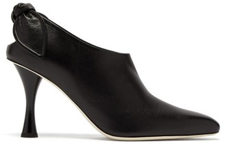 Proenza Schouler Knotted Leather Ankle Boots - Womens - Black