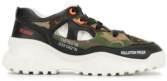 F_WD Pollution Proof camouflage trainers