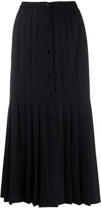 Valentino Pre Owned 1970s Pleated Midi Skirt