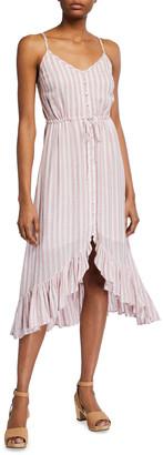 Rails Frida Striped Button-Up Midi Dress