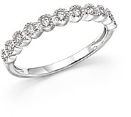 Bloomingdale's Diamond Milgrain Bezel Stacking Band in 14K White Gold, .25 ct. t.w. - 100% Exclusive