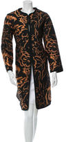 Etro Collarless Patterned Coat