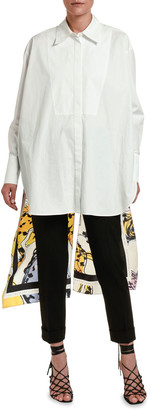 Stella McCartney Scarf-Back Poplin Top